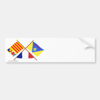 Crossed flags of Provence-Alpes-Côte-d'Azur & Var Bumper Sticker
