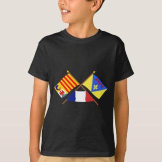 Crossed flags of Provence-Alpes-Côte-d'Azur & Var T-Shirt