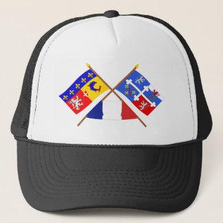 Crossed flags of Rhône-Alpes and Ain Trucker Hat
