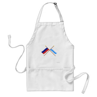 Crossed flags of Russia and Altai Republic Apron