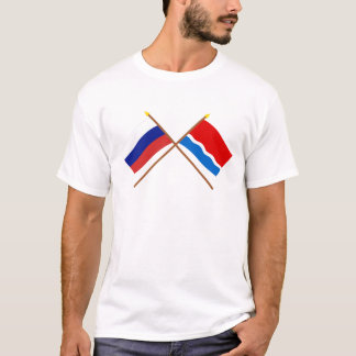 Crossed flags of Russia and Amur Oblast T-Shirt