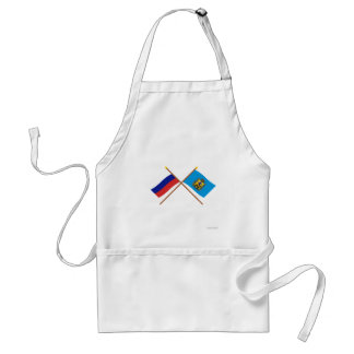 Crossed flags of Russia and Arkhangelsk Oblast Adult Apron