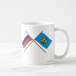 Crossed flags of Russia and Arkhangelsk Oblast Coffee Mug
