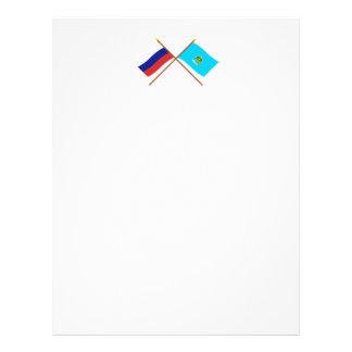 Crossed flags of Russia and Astrakhan Oblast Letterhead