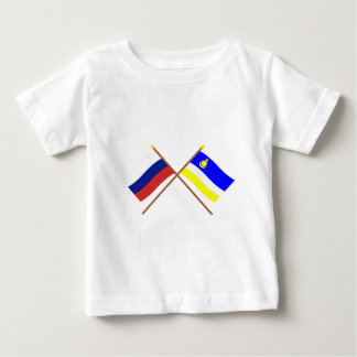 Crossed flags of Russia and Buryat Republic Infant T-shirt