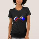 Crossed flags of Russia and Chukotka Auto. Okrug Shirt