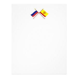 Crossed flags of Russia and Chuvash Republic Letterhead