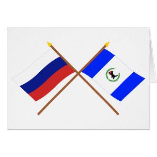 Crossed flags of Russia and Irkutsk Oblast Greeting Card
