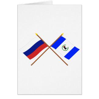 Crossed flags of Russia and Irkutsk Oblast Card