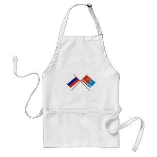 Crossed flags of Russia and Ivanovo Oblast Aprons