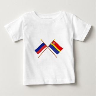 Crossed flags of Russia and Kaliningrad Oblast Baby T-Shirt