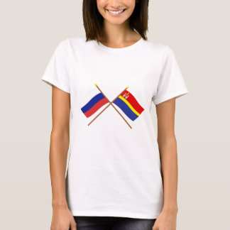 Crossed flags of Russia and Kaliningrad Oblast T-Shirt