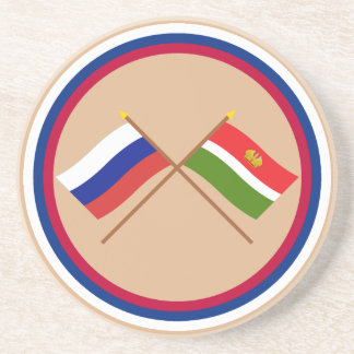 Crossed flags of Russia and Kaluga Oblast Drink Coasters