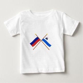 Crossed flags of Russia and Kamchatka Krai Tee Shirt