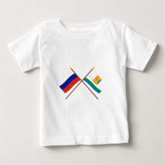 Crossed flags of Russia and Kirov Oblast Baby T-Shirt