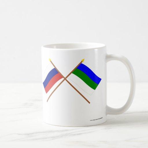 Crossed flags of Russia and Komi Republic Mug