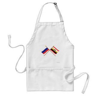 Crossed flags of Russia and Kursk Oblast Aprons