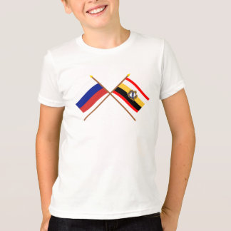 Crossed flags of Russia and Kursk Oblast T-Shirt