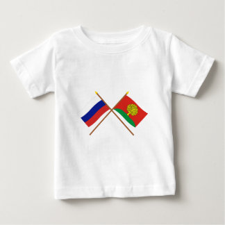 Crossed flags of Russia and Lipetsk Oblast Baby T-Shirt