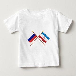 Crossed flags of Russia and Mari El Republic Baby T-Shirt