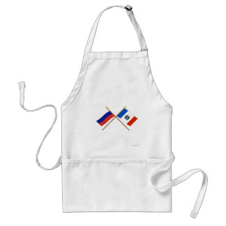 Crossed flags of Russia and Novgorod Oblast Apron