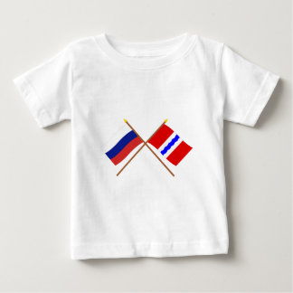 Crossed flags of Russia and Omsk Oblast Baby T-Shirt