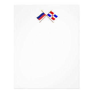 Crossed flags of Russia and Perm Krai Letterhead