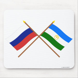 Crossed flags of Russia and Rep. of Bashkortostan Mouse Pad