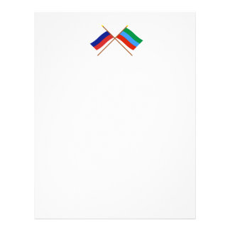 Crossed flags of Russia and Republic of Dagestan Letterhead
