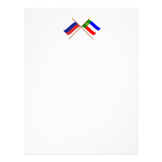 Crossed flags of Russia and Republic of Khakassia Letterhead