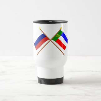 Crossed flags of Russia and Republic of Khakassia Travel Mug
