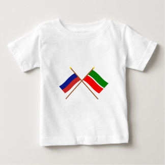 Crossed flags of Russia and Republic of Tatarstan Baby T-Shirt