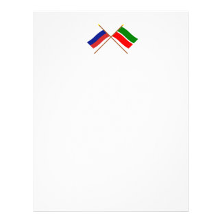 Crossed flags of Russia and Republic of Tatarstan Letterhead Design