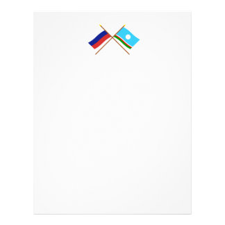 Crossed flags of Russia and Sakha Republic Letterhead
