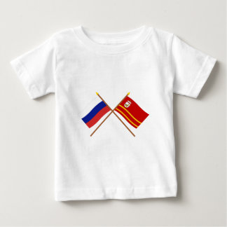 Crossed flags of Russia and Smolensk Oblast Shirts