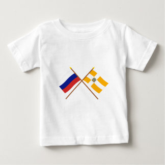 Crossed flags of Russia and Stavropol Krai Baby T-Shirt