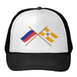 Crossed flags of Russia and Stavropol Krai Mesh Hats