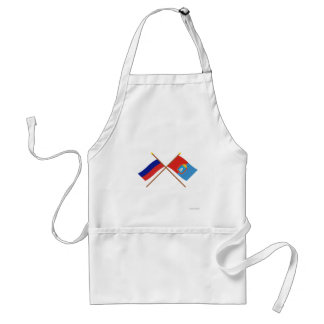 Crossed flags of Russia and Tambov Oblast Aprons