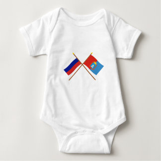 Crossed flags of Russia and Tambov Oblast Baby Bodysuit