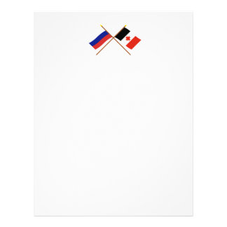 Crossed flags of Russia and the Udmurt Republic Letterhead Template