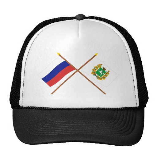 Crossed flags of Russia and Tomsk Oblast Mesh Hat
