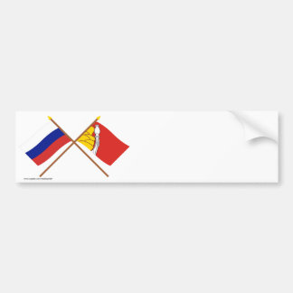 Crossed flags of Russia and Voronezh Oblast Bumper Stickers
