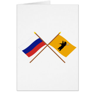 Crossed flags of Russia and Yaroslavl Oblast Cards