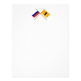 Crossed flags of Russia and Yaroslavl Oblast Custom Letterhead