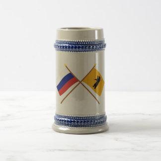 Crossed flags of Russia and Yaroslavl Oblast Mug