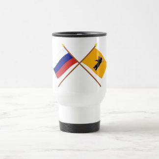 Crossed flags of Russia and Yaroslavl Oblast Coffee Mugs