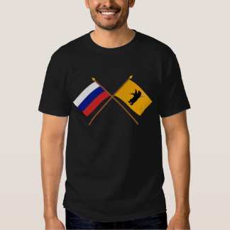 Crossed flags of Russia and Yaroslavl Oblast T Shirt