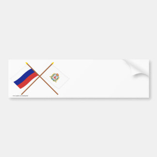 Crossed flags of Russia Nizhniy Novgorod Oblast Bumper Stickers