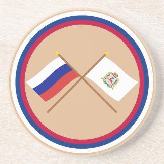 Crossed flags of Russia & Nizhniy Novgorod Oblast Coaster