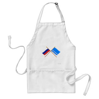 Crossed flags of Russia & Yamalo-Nenets Auto Okrug Adult Apron